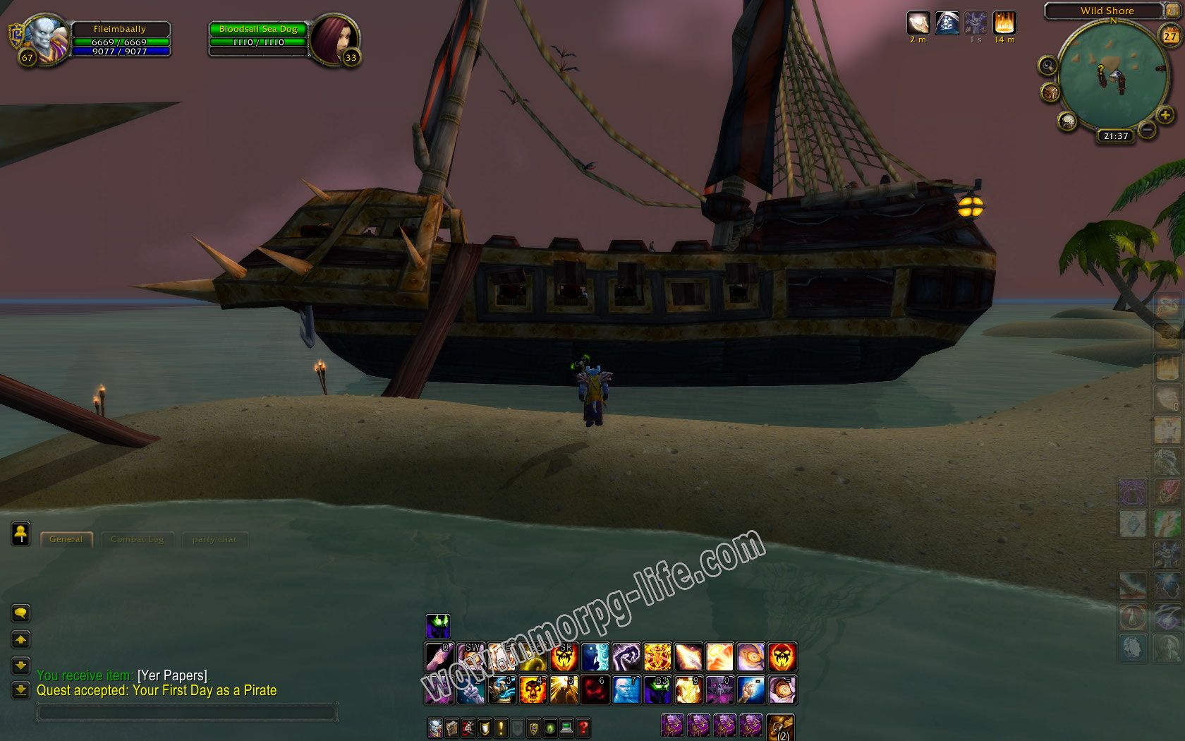 Quest: Your First Day as a Pirate, objective 1 image 1834 middle size
