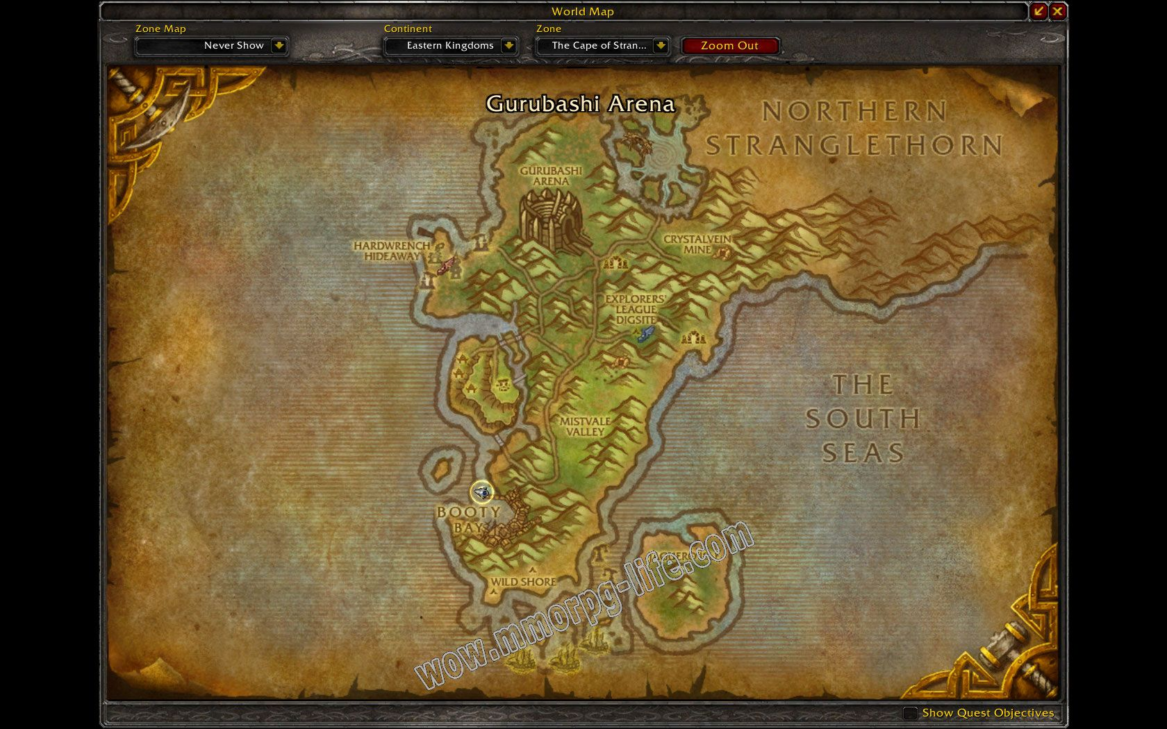 Quest: The Call of Kalimdor, objective 1 image 1225 middle size