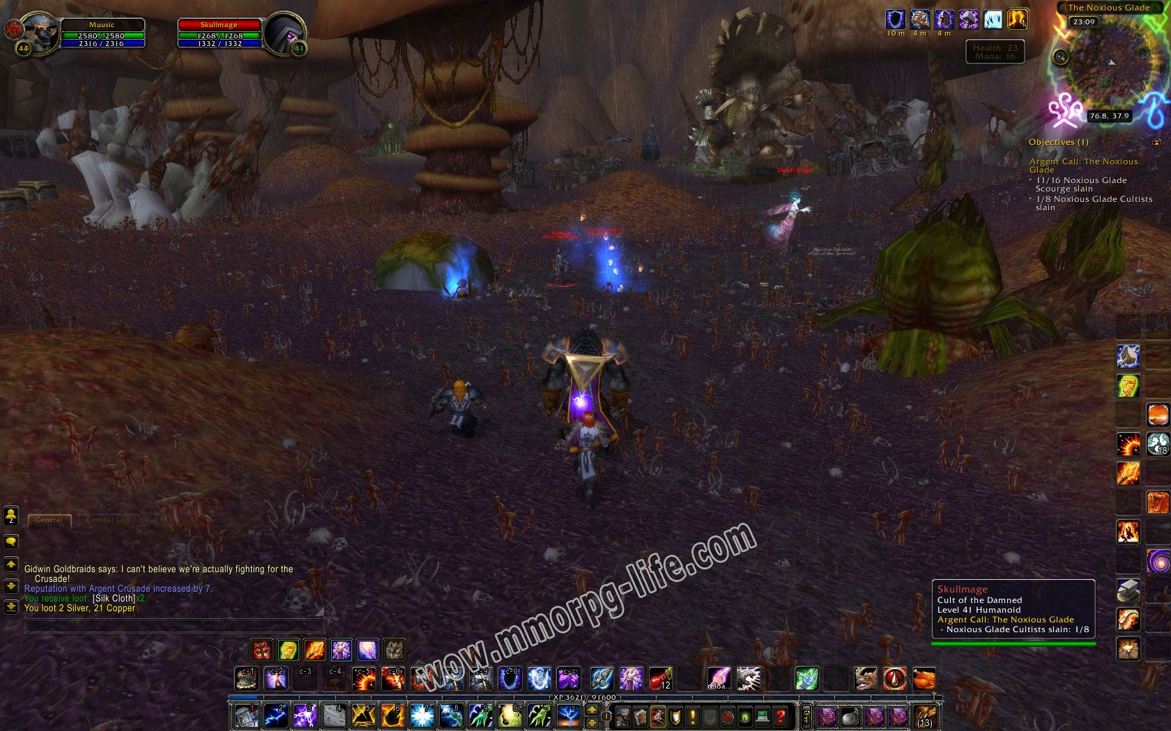 Quest: Argent Call: The Noxious Glade, objective 1, step 2 image 1850 middle size